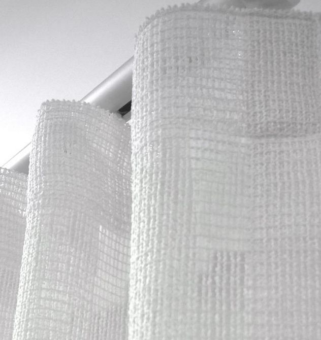 Modern curtain heading. S-Fold. Wave tape. Available at Decorators Market.
