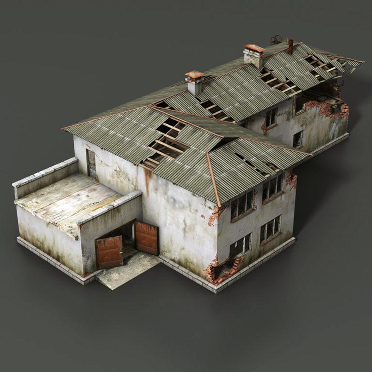 Destroyed Building, Leosmad S On ArtStation Atu2026