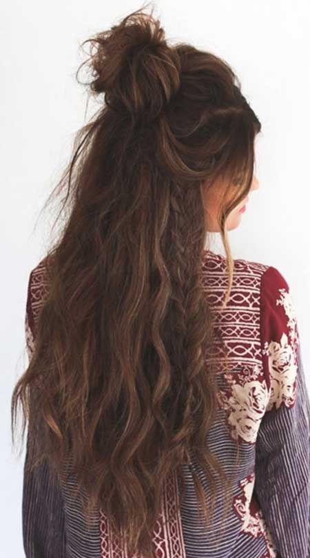 10 chaotisch Top Knoten Hochsteckfrisur für langes Haar, Wasserfall Braid, Ziel…