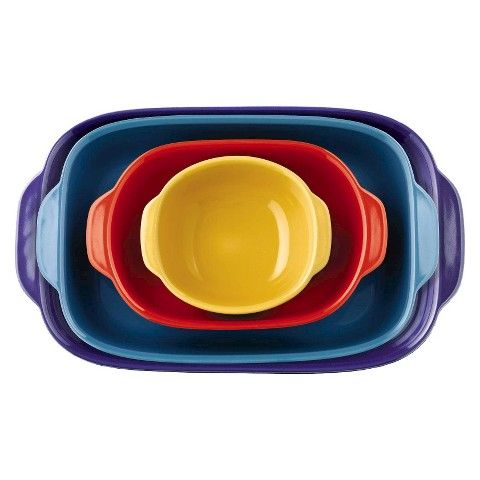 CW By #CorningWare 4 Piece Bakeware Set -  This on trend set comes with four pieces that stack conveniently for simple storage and mix and match perfectly for beautiful serving options. This bakeware is oven-safe, microwave-safe and dishwasher-safe. It's truly the trendy cook's dream. #CWcolor