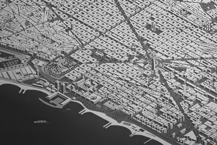 Barcelona map on Behance