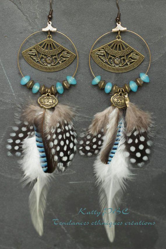 Boucles d'oreille ethnique Sagharita par Tendancesethniques sur Etsy, €26.00