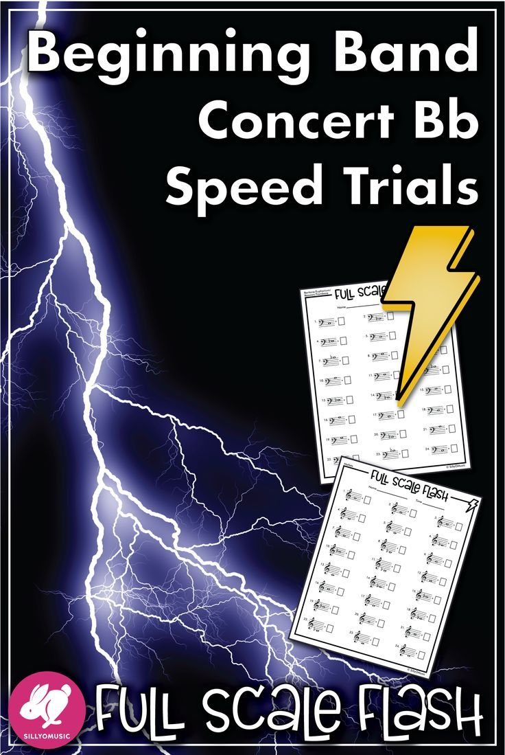Concert Bb Scale Speed Note Naming Full Scale Flash Worksheets