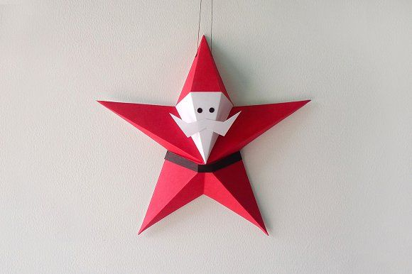 Christmas Origami Santa Claus - Easy origami - How to make an easy ... | 386x580