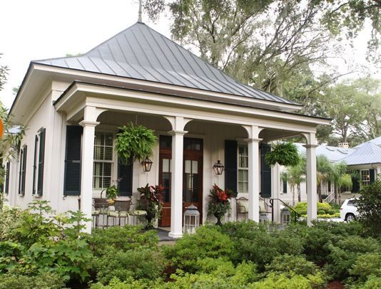 One of two charming guest cottages on Paula Deen's Riverbend estate in Savannah, Georgia. (Remember when Oprah stayed here on her talk show?)