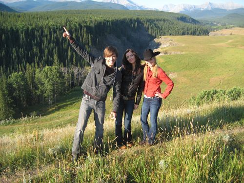 Graham, Michelle, and Amber in the beautiful countryside of Kananaskis, Alberta, Canada
