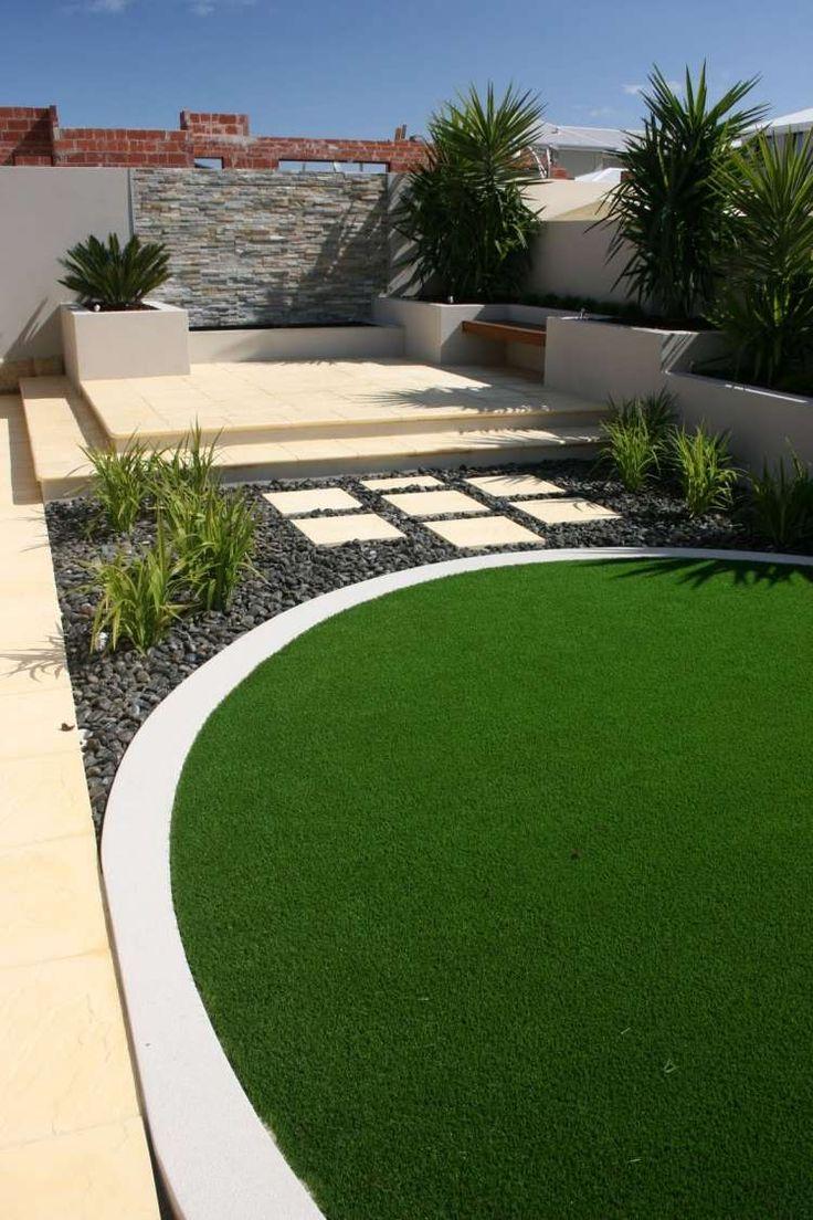 urbaner Garten in geraden Linien und Formen gestalten