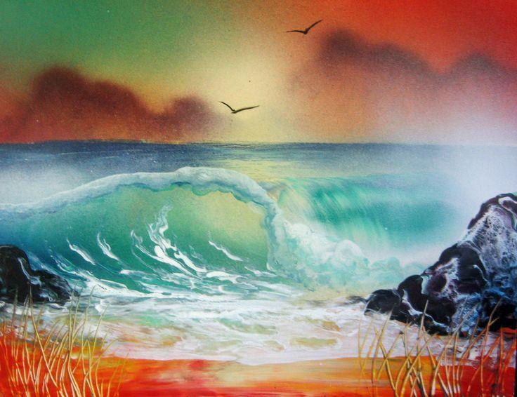 57 best spray paint art 3d images on pinterest. Black Bedroom Furniture Sets. Home Design Ideas
