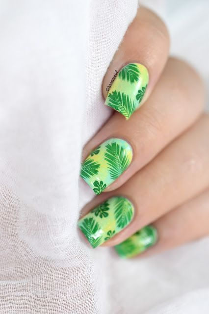 Marine Loves Polish: Nailstorming - Jungle nail art - moyou tropical 13