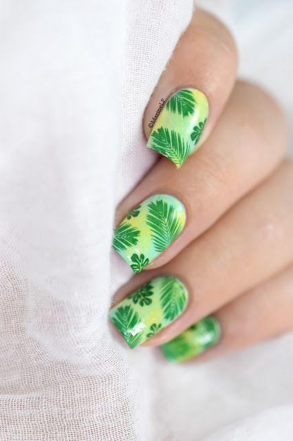 Marine Loves Polish: Nailstorming - Jungle nail art - moyou tropical 13