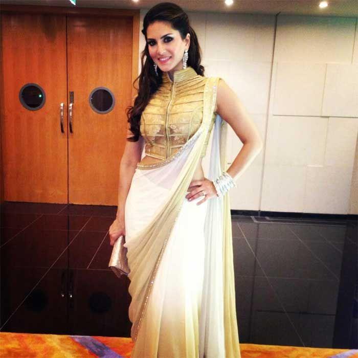 Sunny Leone In Indian Saree Designer Sarees Pinterest