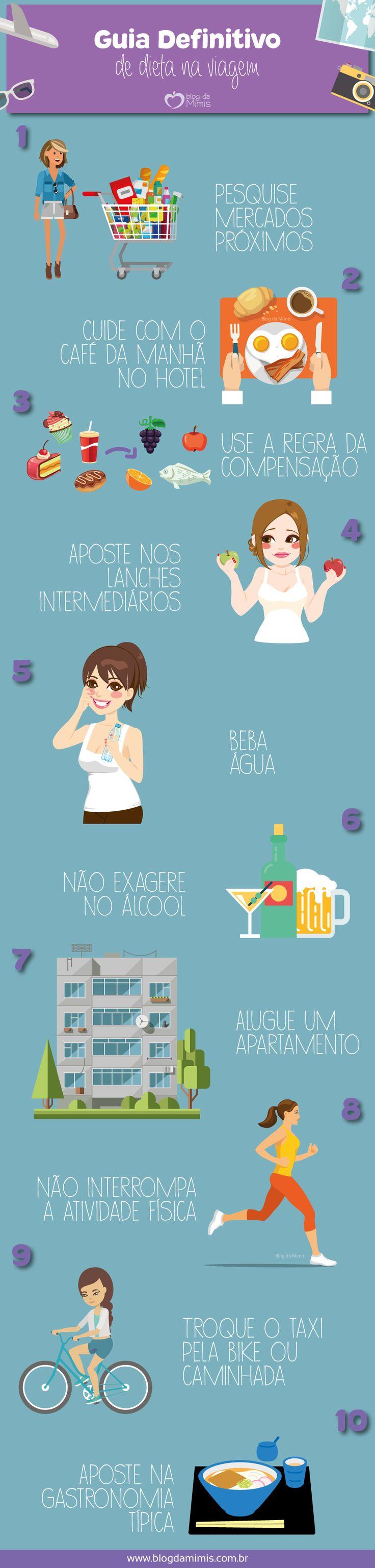 10 Dicas infalíveis para manter a dieta nas férias - Blog da Mimis #viagem #férias #dieta #travel #vacation #diet