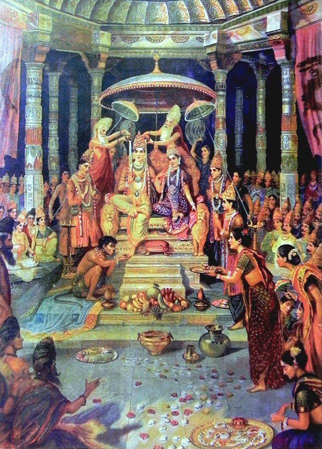 Ram Rajyabhishek (Reprint on Paper - Unframed))