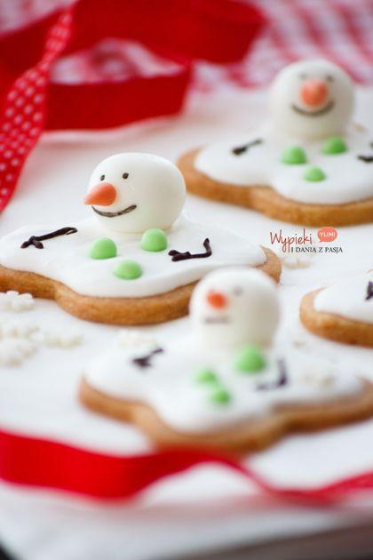 Ciasteczka/pierniczki topniejące bałwanki (melting snowman)