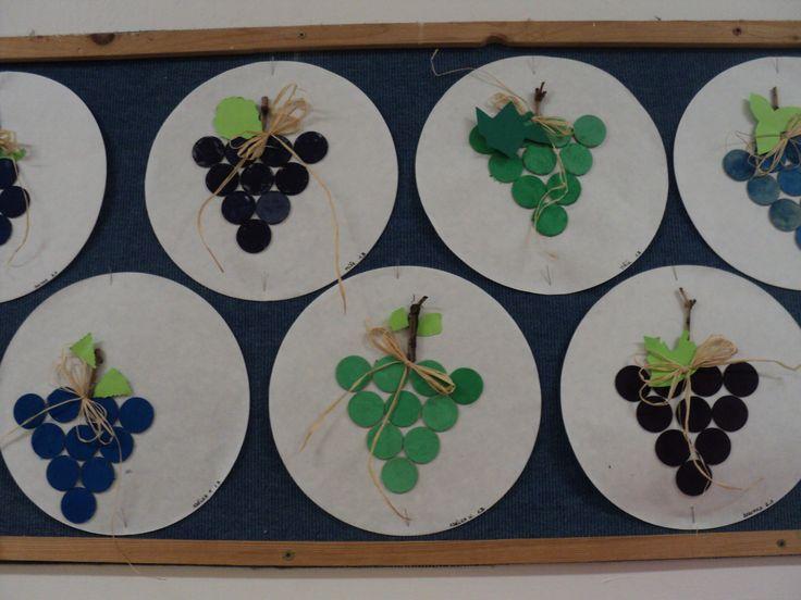 Hroznové víno - výseková kartonová kolečka