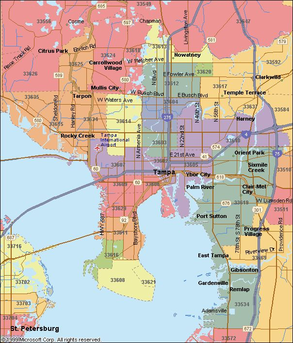 Zip Code Map Tampa | Zip Code MAP