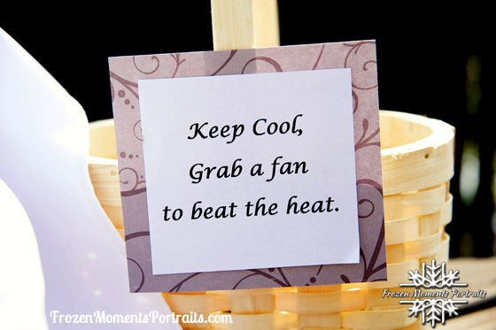 Keep guests cool during outside wedding ceremonies