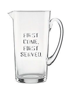 first come first served pitcher - Kate Spade New York