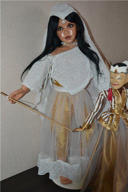Образ Индии в кукле INDIA ОOАК автора Сьюзен Крей (SUSAN KREY) с её обычаями и необычайной красотой... / Susan Krey коллекционные куклы, Сьюзан Крей / Бэйбики. Куклы фото. Одежда для кукол