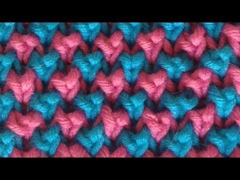 Perlpatent mit 2 Farben stricken - Patentmuster - Strickmuster - YouTube