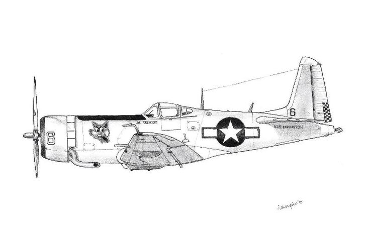 Pure fantacy WW2 fighter in pencil