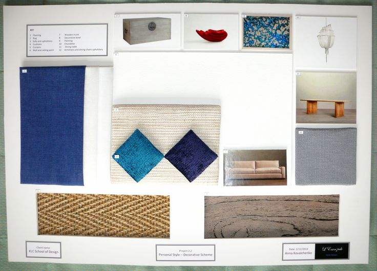 How To Create A Sample Board For Interior Design Project