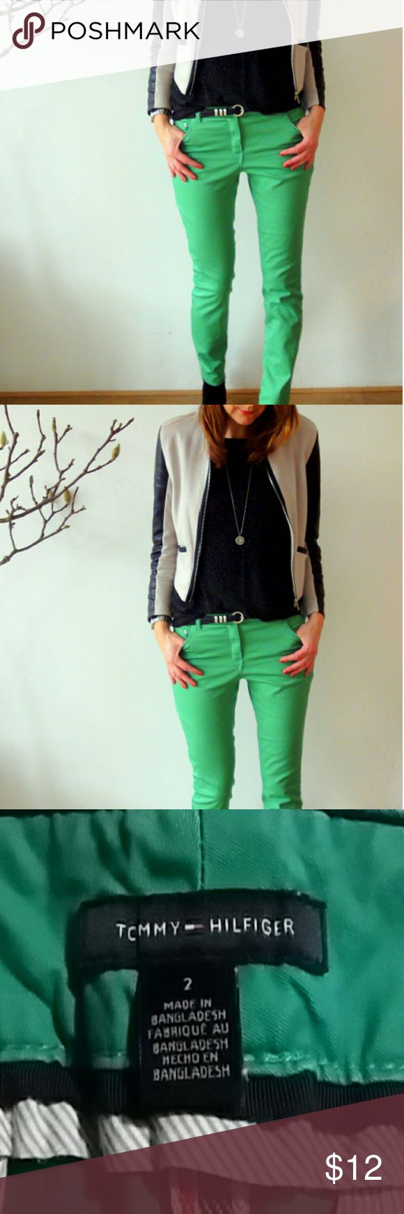 Tommy Hilfiger chino pants Kelly green Tommy Hilfiger chino pants 97% cotton 3%elastane Tommy Hilfiger Pants Trousers