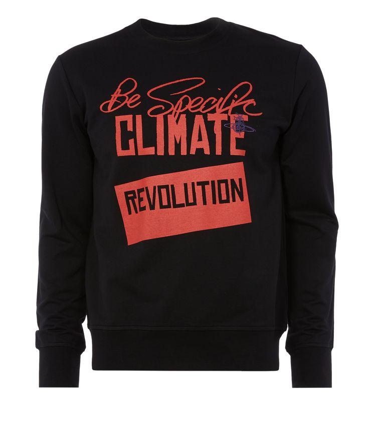 VIVIENNE WESTWOOD Be Specific Sweatshirt Black. #viviennewestwood #cloth #