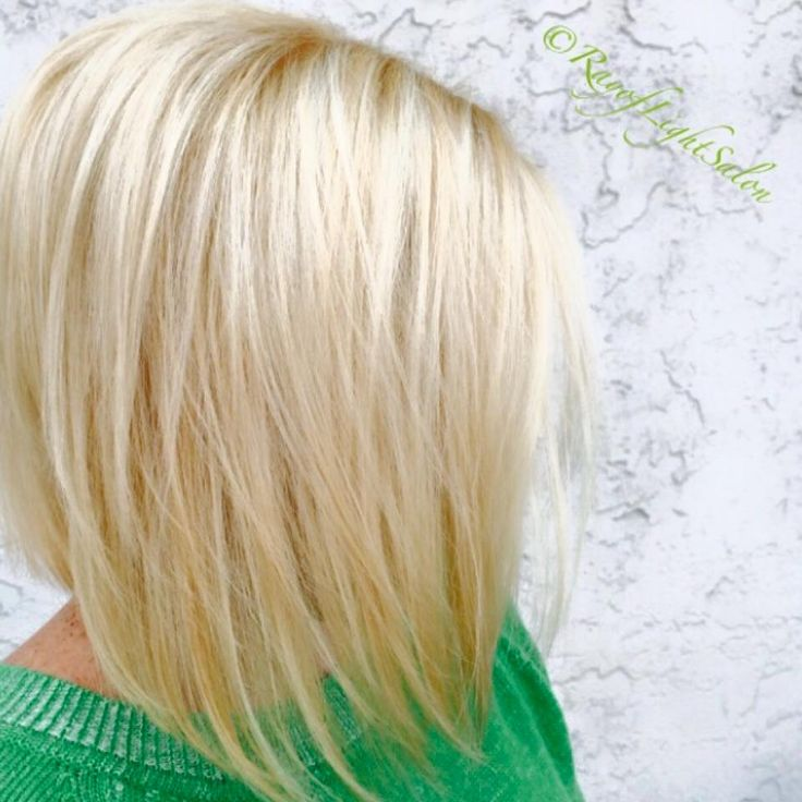 Slight inverted bob & blonde color!! Happy St. Pattys Day