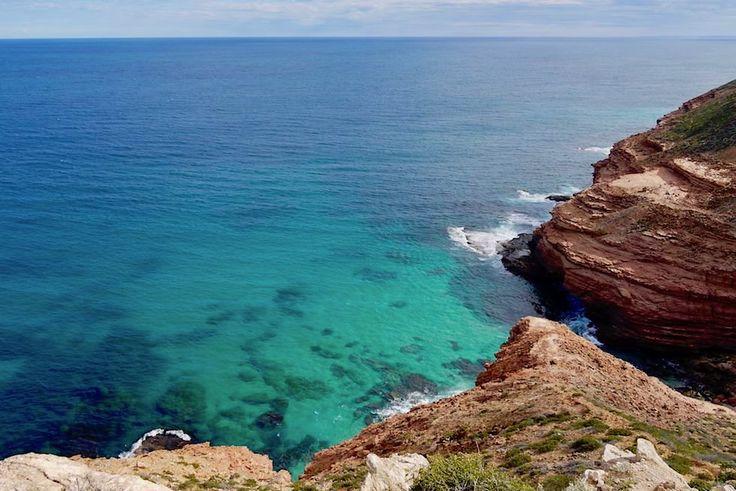 Felsen & blau-türkiser Indischer Ozean - Shellhouse & Grandstand an der Kalbarri Küste - Kalbarri National Park - Western Australia