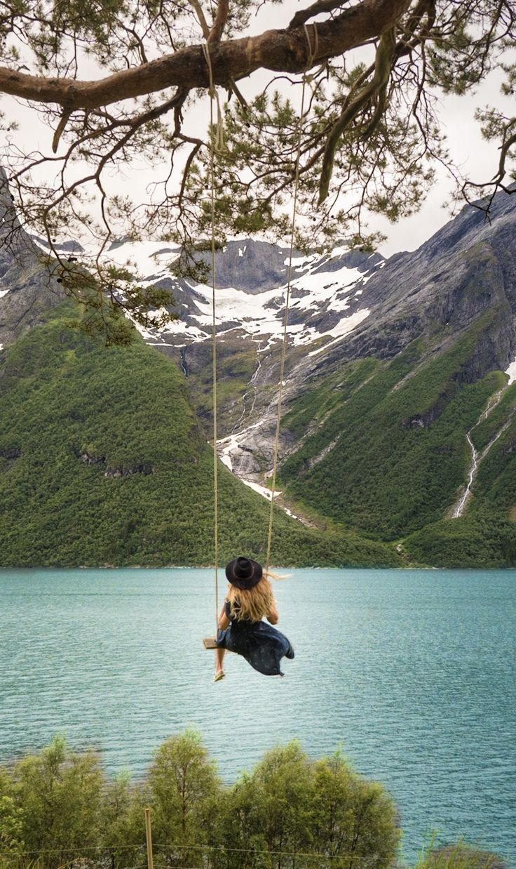 Pinterest: TrouvaillePhoto / Wait for me where the world begins / Trandal Swing in Norway