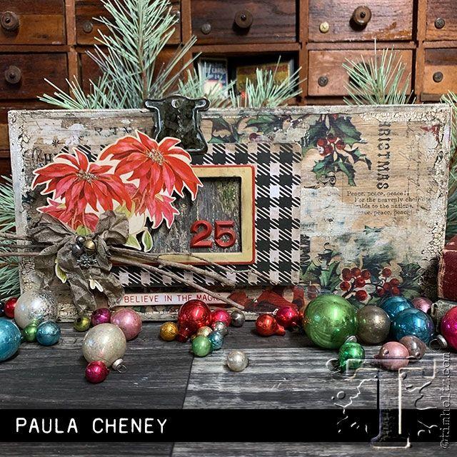 Tim Holtz Idea Ology Christmas Layers And Baseboard Frames Th94017 Zoom Image Christmas Shadow Boxes Diy Christmas Ornaments Blue Christmas Decor