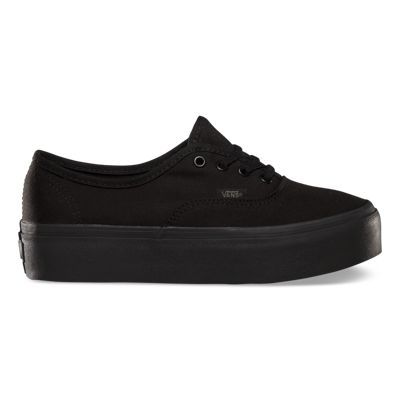 The Authentic Platform is a fashion low top lace-up silhouette with platform sole, durable canvas upper, metal eyelets and Vans original Waffle Outsole.