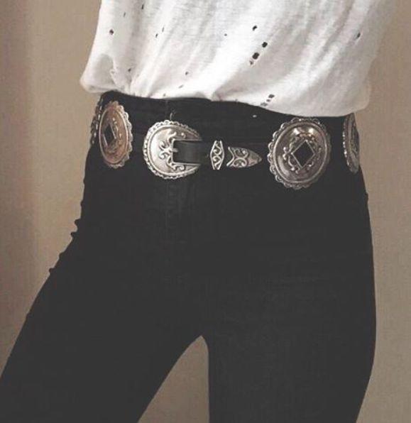 trending // western belts