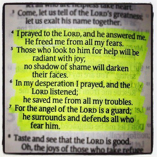 Psalms. 34: 4-7