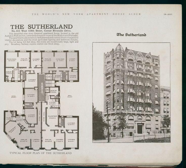 World S Loose Leaf Album Of Apartment Houses Vintage House Plans Apartment Floor Plans House Floor Plans