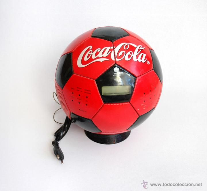 Radio cd balon coca-cola en todocoleccion