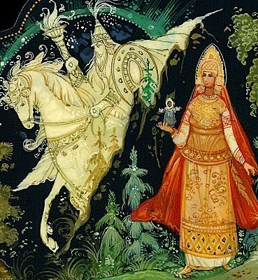 """""""Vasilisa the Brave"""", sometimes called """"Vasilisa the Beautiful"""", is a Russian Fairytale as famous as """"Ivan and the Firebird"""". It's about a magic doll and a girl protected by her mother's eternal love. The infamous witch, Baba Yaga, also makes her appearance in this tale."""