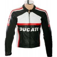 Ducati Classic Leather Motorcycle Jacket