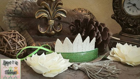 """~ KUIS  """"eXcLuSiVe"""" The Princess and the Frog Inspired Princess Tiana """"Infant/Toddler"""" Sized Glitter Vinyl Crown-by Keeps U in Stitches   ~"""