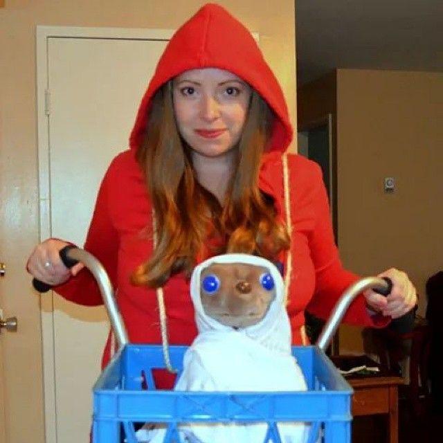 et and elliott costume with stuffed et i wishhalloween - Wish Halloween Costumes
