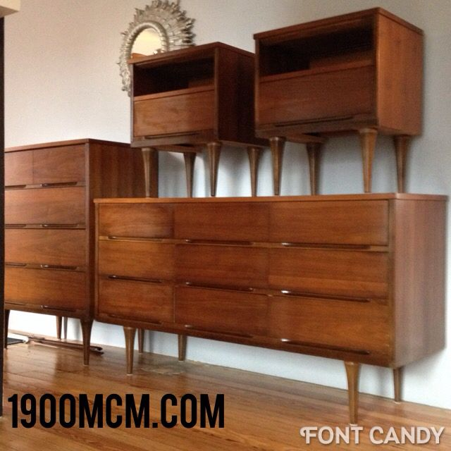 For sale mid century modern danish modern bedroom set for Bed and dresser for sale