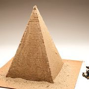 Cultures throughout much of history built pyramids. Because of this, most children learn about pyramids several times over the course of their school years. A popular school project is for students to make model pyramids of their own. Making a realistic pyramid model for a class project can be easy and inexpensive.