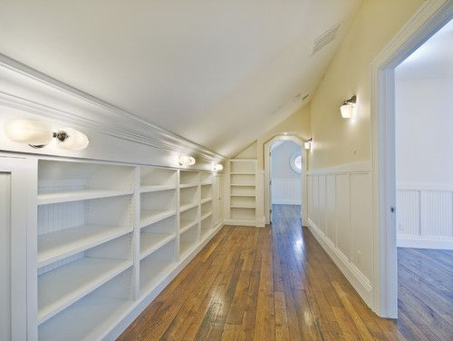 Attic into a closet. So in love.