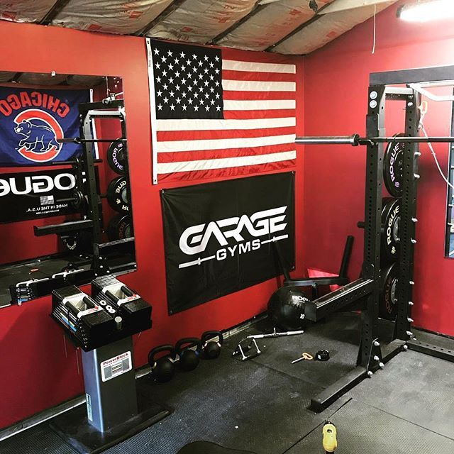 Great Looking Gym And Decor I M Honored To Have The Garage Gyms Banner Hanging In Another Gym Truly R Garage Gym Home Gym Garage Home Made Gym