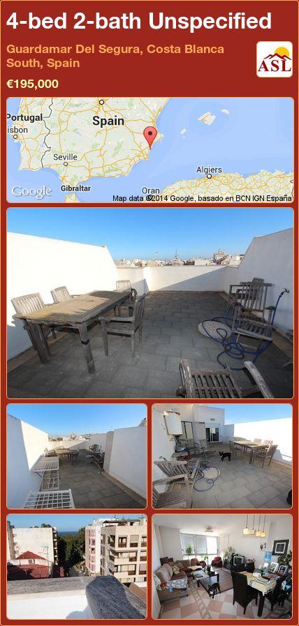 4-bed 2-bath Unspecified in Guardamar Del Segura, Costa Blanca South, Spain ►€195,000 #PropertyForSaleInSpain