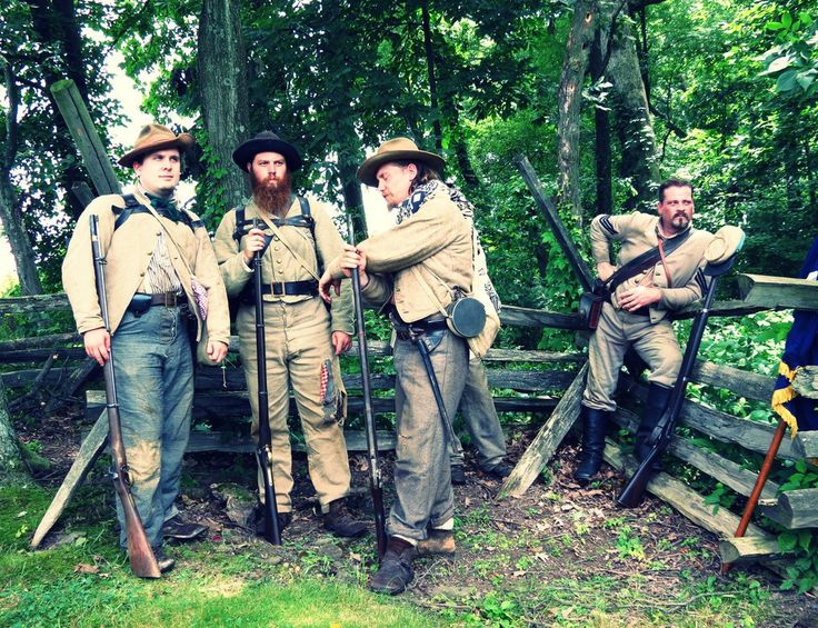 Confederate Soldiers by *evelynrosalia on deviantART. 150th anniversary of the Battle of Gettysburg. Reenactment.