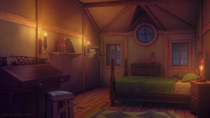 bedroom night anime episode interactive backgrounds deviantart bowkett jake