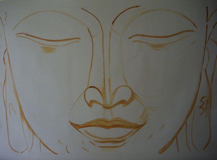 buddhA   New Buddha Painting on Process