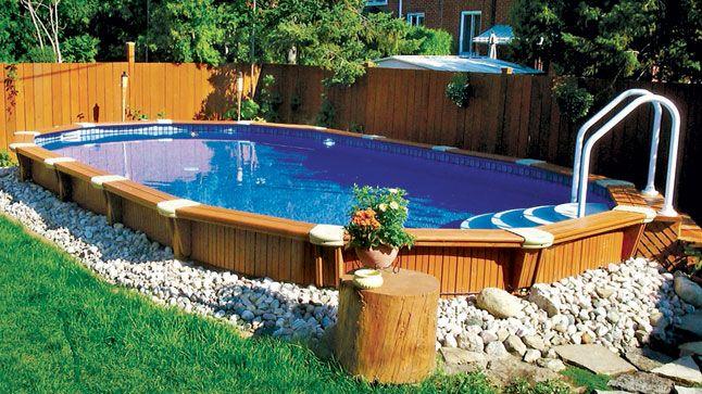 51 Best Semi Inground Pools Images On Pinterest Backyard Ideas Pool Ideas And Backyard Pools